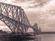Forth Rail Bridge in Edinburgh Stock Photos