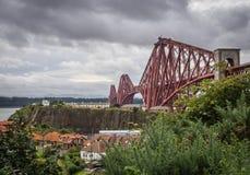 Forth Rail Bridge in Edinburgh Stock Photography