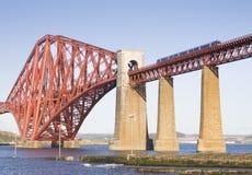 Forth Rail Bridge in Edinburgh, Scotland Stock Photo