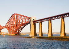 Forth rail bridge in Edinburgh Stock Photos