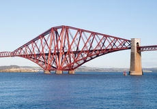 Forth rail bridge in Edinburgh. In a sunny day Stock Images
