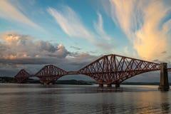The Forth Rail Bridge crossing between Fife and Edinburgh Stock Photos