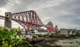 Forth Rail Bridge panorama Stock Image