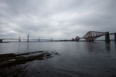 Bridges in the forth royalty free stock image