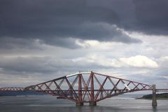 Forth rail bridge in Scotland Royalty Free Stock Image