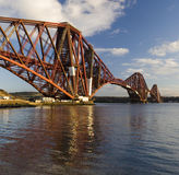 Forth Rail Bridge - Scotland. The Forth Rail Bridge over the Firth of Forth near Edinburgh in Scotland. UK. Viewed from North Queensferry royalty free stock images