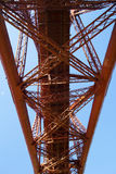 Forth Rail Bridge from South Queensferry, Scotland Royalty Free Stock Photos