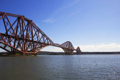 Forth Rail Bridge from South Queensferry, Scotland Stock Photos