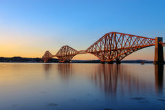 The Forth Rail Bridge at sunset Royalty Free Stock Photography