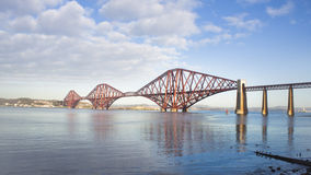 Forth Rail Bridge. Taken from South Queensferry, Scotland Stock Image