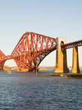 Forth rail bridge in vertical composition. A beautiful landmark in Scotland Stock Photography