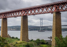 Forth Rail Bridges in Edinburgh Royalty Free Stock Photos
