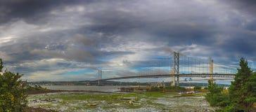 Forth Rail Bridges panorama Stock Photo