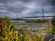 Forth Rail Bridges panorama Stock Image