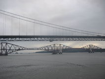 Forth Rail and Road Bridges. Scotland Royalty Free Stock Images
