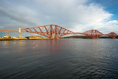 Forth railroad bridge. In late afternoon sun Stock Photo