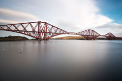 Forth railroad bridge. In late afternoon sun Royalty Free Stock Photography