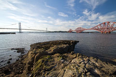 Forth Railway Bridge, Forth Road Bridge Royalty Free Stock Photos
