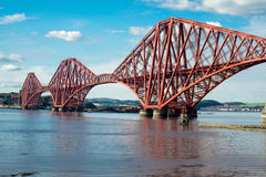 Forth railway bridge in Scotland Royalty Free Stock Photo