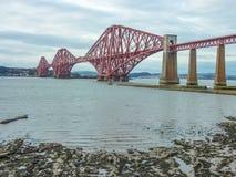 The Forth Railway Bridge, Scotland. The Forth Railway Bridge near Edinburgh, Scotland Stock Photo