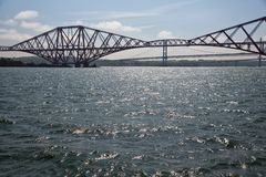 Forth railway Bridge over Firth of Forth near Edinburgh , Scotland stock photos