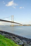 Forth Road Bridge. A picture of the Forth Road Bridge from South Queensferry, Scotland royalty free stock images