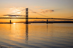 The Forth road bridge at dawn Royalty Free Stock Image