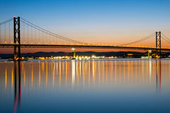 The Forth Road Bridge at dawn Stock Photos