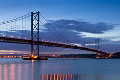 Forth Road Bridge, Edinburgh, Scotland stock photo