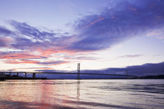 The Forth Road Bridge in Edinburgh Scotland Stock Photo