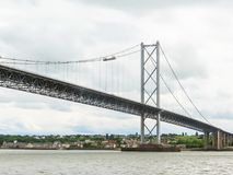 Forth Road Bridge and Firth of Forth. Edinburgh, Scotland, UK. Old Forth Road Bridge and Firth of Forth. Edinburgh, Scotland, UK Stock Image