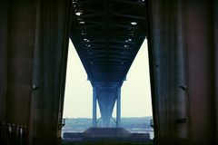 Forth Road Bridge - Looking From Below Royalty Free Stock Images