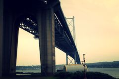 Forth Road Bridge - Looking South Royalty Free Stock Photography