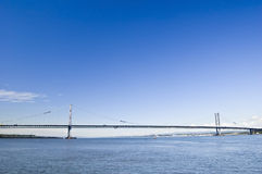 Forth Road Bridge, Scotland. With plenty of space for text Stock Photo