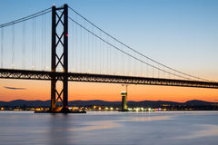 The Forth Road Bridge in Scotland Royalty Free Stock Image