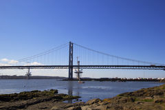 Forth Road Bridge from South Queensferry, Scotland Royalty Free Stock Image