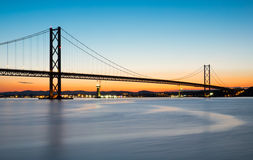 The Forth road bridge after sunset Stock Photo