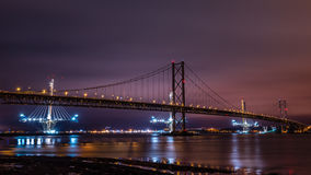The Forth Road Bridges, Scotland Stock Images