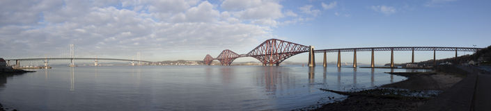 Forth Road & Rail Bridge Royalty Free Stock Photo