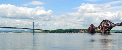 Forth road and rail Bridge Scotland Royalty Free Stock Image