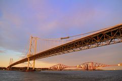 The Forth Road and Rail Bridges Stock Photos
