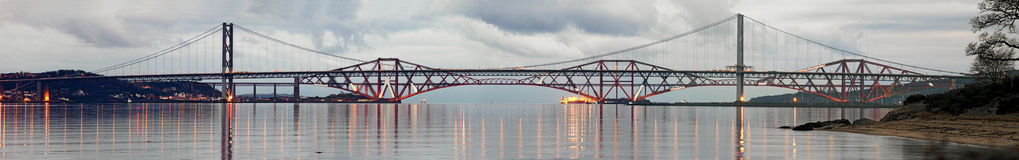 Forth Road and Rail Bridges on a still evening Stock Photo