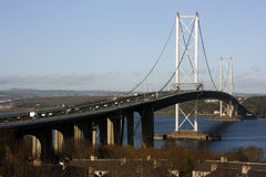 The Forth Road Suspension Bridge, Scotland Stock Photography