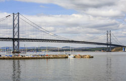 The Forth Road Suspension Bridge, Scotland. The Forth Road Bridge is a suspension bridge in east central Scotland. The bridge, opened in 1964, spans the Firth of Royalty Free Stock Photography