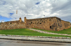 Forti de Sant Jordi in Tarragona, Spain, fort built in 1709 by the English army under the War of Succession Stock Images