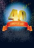 Fortieth anniversary Royalty Free Stock Photos