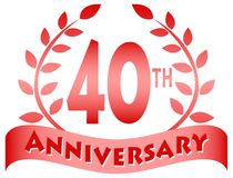 Fortieth Anniversary Banner/eps royalty free illustration