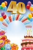 Fortieth birthday poster Stock Photo