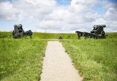 A fortificação de Fredericia imagens de stock