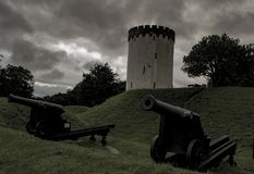 A fortificação de Fredericia foto de stock